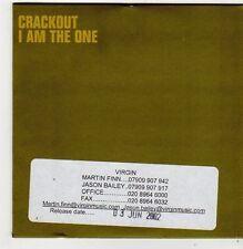 (FI858) Crackout, I Am The One - 2002 DJ CD