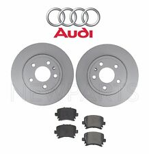 Audi A4 Quattro 2.0 L 3.2L Set of Two Rear Brake Disc Rotors with Brake Pads OES