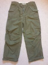 Pantalones M65 Tamaño Original Vintage Raro MED Reg 1968 US Army Surplus OG107