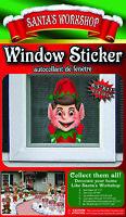 Christmas Santa's Workshop Elf Window Sticker Poster Decal North Pole Decoration
