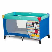 NEW HAUCK DISNEY MICKEY MOUSE GEO BLUE DREAM N PLAY TRAVEL COT  PLAYPEN