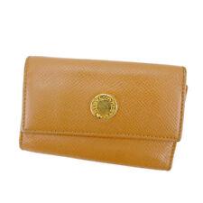 Bvlgari Key holder Key case Beige Gold Woman unisex Authentic Used T4118