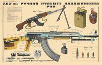 *Color POSTER Of Soviet Russian RPK-47 Kalashnikov 7.62x39 Rifle  LQQK  BUY NOW!