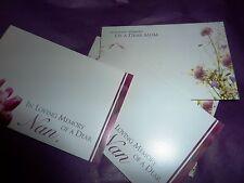 Florist Cards NAN MUM GRANDMOTHER x 50 mix Sympathy Message av 6x9cm quality