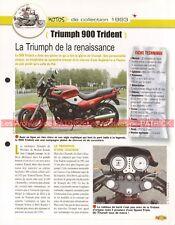 TRIUMPH 900 Trident 1993 Joe Bar Team Fiche Moto #007735