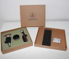 Laguiole Wein Geschenkbox 3tlg Kellnermesser Abtropfring FLASCHENVERSCHLUS