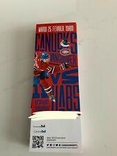 unused season hockey tickets Montreal Canadiens  feb 25