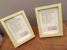 "NEW NEXT Set of 2 Studio Lime Green Desk Photo Picture Frame 6"" x 4"" 7""x5"" XMAS"