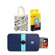 KODAK Smile Instant Print Digital Camera (Blue) Tote Bag Kit