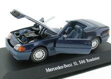 MINICHAMPS - Mercedes-Benz SL 500 Roadster - R129 dunkelblau - 1:43  Modellauto