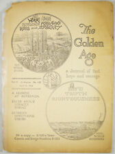 Golden Age Magazine April 9, 1924 #119 Luther's 95 Theses Watchtower Jehovah
