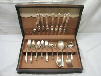 Set Holmes & Edwards Silver Plate Inlaid IS Flatware Spring Garden 55pcs
