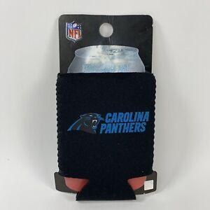 NFL Carolina Panthers Team Color Logo 12oz Can Kooler Collapsible Sleeve Koozie