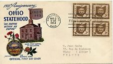 FDC/ FIRST DAY COVER / OHIO STATEHOOD / CHILLICOTHE / VICHY 1953