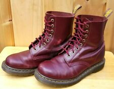 Dr. Martens Burgandy Oxblood Leather Combat Boots Air Wair UK 6 Womens US 8 Men7
