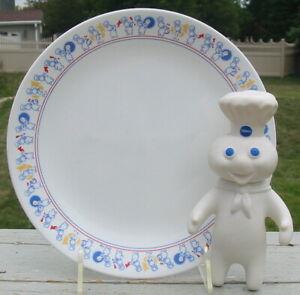 Vintage 1991 Corelle Dinner Plate Platter Pillsbury Dough Boy 1971  Doll Lot Set