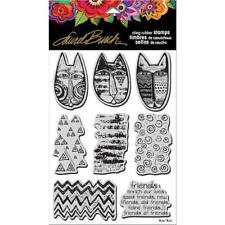 Stampendous Laurel Burch aggrapparsi Stamp con Modello-GATTI TRIBALE lbcrs 06