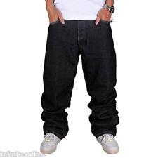 Men Jeans Pants Baggy Loose Fit Denim Hip-Hop Rap Skateboard Cargo Trousers HOT