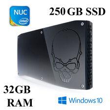 SKULL Canyon NUC mini PC / Core i7 / 32GB / SSD 250GB / Intel IRIS Gfx / WIN 10