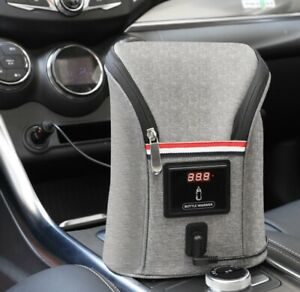NEW Portable Car Travel Baby Milk Bottle USB Heating Cover Warmer Heater