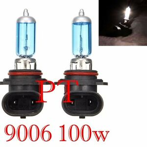 9006 HB4 12V 100W Halogen Headlight Lamp Bulbs 5000K Super White #f4 Fog Light