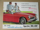 Austin Healey Sprite MK111 brochure 1965.sports car brochure.
