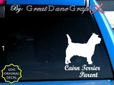 Cairn Terrier #1 -Mom -Dad -Parent(s) Vinyl Decal Sticker -Color -High Quality
