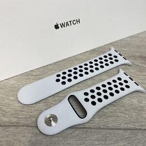 Genuine Apple x Nike Watch Sport Band - Black / Pure Platinum 42mm/44mm S/M