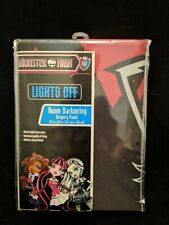 Mattel Monster High Lights Off Room Darkening Drapery Panel New in Package 42x63