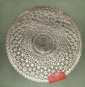 Rose Gold Medalion Charger round placemat Opalhouse 15 In