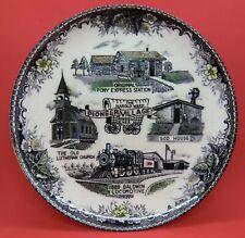 Vintage Porcelain Harold Warp Pioneer Village Ne Collector Plate
