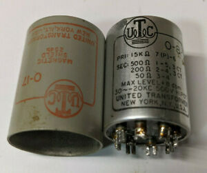 Vintage UTC O-8 Ouncer Audio Output Plate to Line Transformer For Tube Amps