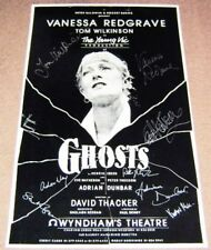 GHOSTS VANESSA REDGRAVE TOM WILKINSON AUTO'D POSTER WYNDHAM THEATRE LONDON 1986
