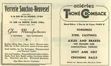 1953 Verrerie Souchon-neuvesel  Lyon Glass Manufacture Ad