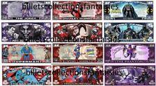 LOT de 6 Billets différents : COMICS - USA  # 2. Commémoration / Collection