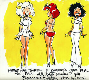 Original Color Cartoon Drawing By Reamer Keller - Magnificent!