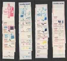 Thailand 1976 Postmen set, each value in nine imperf progressive plate proofs