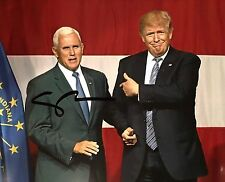 MIKE PENCE INDIANA GOVERNOR VP SIGNED PHOTO Donald TRUMP President 2016 election