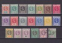 SEYCHELLES 1921, SG# 98-122, CV £81, Wmk Mult Script CA, part set, MH/Used