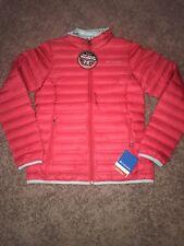 NWT Womens Red Columbia Medium Flash Forward Down Jacket W/ Heat Seal
