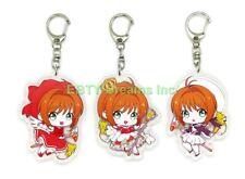 Set of 3 Cardcaptor Sakura Anime Acrylic Keychain Sakura Kinomoto v2