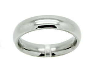Stainless Steel Comfort Fit Ring Mens White Wedding Plain Band Fashion 3mm-6mm