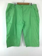 Womens Marks&Spencer Bright Green Knee Length Shorts Size 22 UK *31
