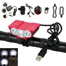15000Lm 3x Xm-L T6 Led Bicycle Headlight Road Bike Cycling Front Lamp Rear Light