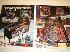 2 ORIGINAL STERN THE TRANSFORMERS PINBALL MACHINE BROCHURE  FLYERS