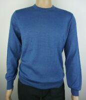 Men`s CHRISTIAN BERG Jumper Crew Neck Wool Blend Size S Blue Pullover