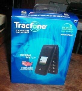 Brand NEW Tracfone Alcatel My Flip TFALA405DCPWP 4G Prepaid Flip Phone SEALED