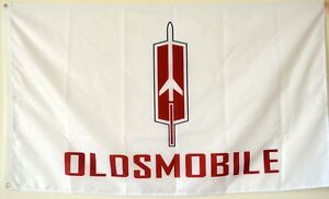 Oldsmobile Flag Banner 3x5Feet white