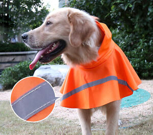 Dog Hooded Rain Poncho Waterproof Outdoor Pet Rainwear Jacket Puppy Raincoat