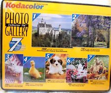 Kodacolor Photo Tin Gallery of 7 Jigsaw Puzzles 2650 Total Pcs. NEW - SEALED